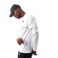 Afbeelding van The North Face M LS SIMPLE DOME TEE T93L3BFN4 Longsleeve TNF WHITE