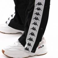 Afbeelding van Kappa 222 Banda Astoria Snaps Slim 303Kue0-Ae2 Trainingsbroek Black-White