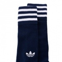Afbeelding van Adidas SOLID CREW SOCKS 2PP - COLOR PACK DH3363 sokken COLLEGIATE NAVY/WHITE/WHITE/CLEAR BLUE