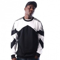 Afbeelding van Adidas Palmeston Crew DJ3455 crewneck BLACK/WHITE