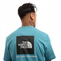 Afbeelding van The North Face M S/S Red Box Tee T92TX2 T shirt Storm Blue