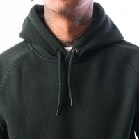 Afbeelding van Carhartt WIP Hooded Chase Sweatshirt I024653 Hooded Loden / Gold