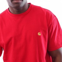 Afbeelding van Carhartt WIP S/S Chase T-Shirt I026391 T shirt Cardinal / Gold