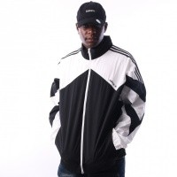 Afbeelding van Adidas Palmeston Windbreaker DJ3450 jas BLACK/WHITE