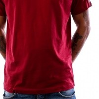 Afbeelding van Kappa Banda Coen Slim 303UV10 T shirt Red Bordeaux-Grey