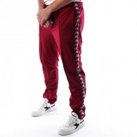 Kappa Banda Astoria Slim 301EFS0 Trainingsbroek Red Bordeaux-Grey