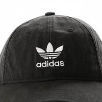 Afbeelding van Adidas Adic Washed Cap Dv0207 Dad Cap Black/White