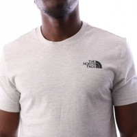 Afbeelding van The North Face M S/S SIMPLE DOME TE T92TX51TG T shirt WILD OAT HEATHER