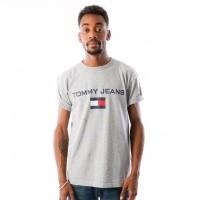Afbeelding van Tommy Jeans 90s Logo Tee T-shirt Light Grey Heather DM0DM05234-000