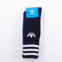 Afbeelding van Adidas Solid Crew Socks 2Pp - Color Pack Dw6827 Sokken Collegiate Navy/Bluebird/White