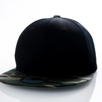 Ethos Basic snap KNW-1467 black/camo KNW-1467 dad cap black/camo