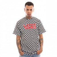 Afbeelding van Vans Vans Classic VN000GGGM74 T shirt Black White Checkerboard