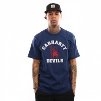 Afbeelding van Carhartt Wip S/S Carhartt Devils T-Shirt I026435 T Shirt Metro Blue