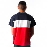 Afbeelding van Levi`s SS Colorblock Tee 56573-0002 T-Shirt Peacoat / Marshmallow / Red / Black Tekst