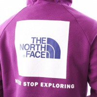 Afbeelding van The North Face M Raglan Red Box Hd T92ZWU8NX Hooded Phlox Purple