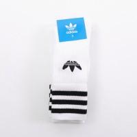 Afbeelding van Adidas Originals S21489 Socks Solid crew Wit 3 pack