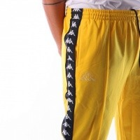 Afbeelding van Kappa Banda Astoria Slim 301EFS0 Trainingsbroek Yellow Mustard-Black