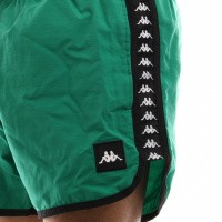 Afbeelding van Kappa Authentic Agius 303Wh90-975 Swimshort Green-Black-White