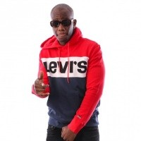 Levi`s Colorblock Hoodie 56613-0000 Hooded Red / Marshmallow / Blues / Black