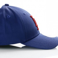 Afbeelding van New Era League Essential 9Forty 11871481 Dad Cap Dark Royal/Hot Red Mlb Los Angeles Dodgers