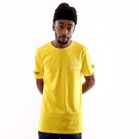 In Gold We Trust Logo Tee FA-069 T Shirt Yellow
