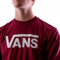 Afbeelding van Vans VANS CLASSIC LS V00K6HZ28 Longsleeve BURGUNDY-WHITE
