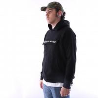 Afbeelding van raised by wolves cargo hooded sweatshirt Black French Terry