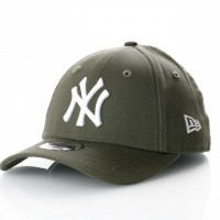 Afbeelding van New Era Kids League Essential 9Forty 11871489 Dad Cap New Olive/Optic White Mlb New York Yankees