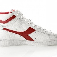 Afbeelding van Diadora Game L High Waxed 501159657 Sneakers White/Red Pepper