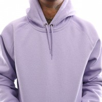 Afbeelding van Carhartt Wip Hooded Chase Sweat I026384 Hooded Soft Lavender / Gold
