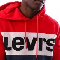 Afbeelding van Levi`s Colorblock Hoodie 56613-0000 Hooded Red / Marshmallow / Blues / Black