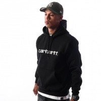 Afbeelding van Carhartt WIP Hooded Carhartt Sweatshirt I025479 Hooded Black / White