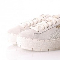 Afbeelding van Puma Platform Trace Animal Wn's 367814 Sneakers whisper white-metallic gold