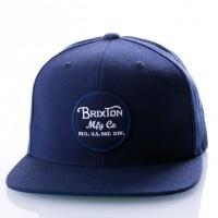 Brixton WHEELER SNAPBACK 375 snapback cap NAVY/NAVY