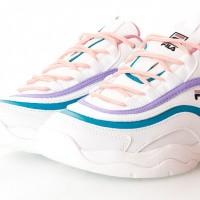 Afbeelding van Fila Ray Low wmn 1010562 Sneakers white/very berry / caribbean sea