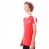 Afbeelding van Puma Iconic T7 Tee 577979 T shirt High Risk Red