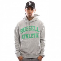 Russell Athletic Iconic Tackle Twill Pull Over A9-004-1 Hooded New Grey Marl