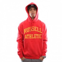 Russell Athletic Iconic Tackle Twill Pull Over A9-004-1 Hooded Red