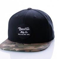 Brixton WHEELER SNAPBACK 375 snapback cap BLACK/CAMO