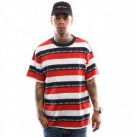 Afbeelding van Tommy Hilfiger TJM Branded Stripe Tee DM0DM06077 T Shirt Flame Scarlet / Multi