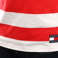 Afbeelding van Tommy Hilfiger Tjm Tommy X Coca Cola Stripe Tee Dm0Dm06693 T Shirt Sodalite Blue / Multi
