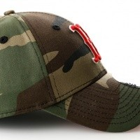 Afbeelding van New Era 80536749 Camo Team 940 Boston Red Sox Woodland Camo/Scarlet