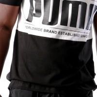Afbeelding van Puma Graphic Logi Block Tee 577126 T-Shirt Black-White