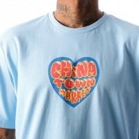 Afbeelding van Chinatown Market Heart CTM-HSS T shirt Blue