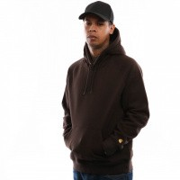 Afbeelding van Carhartt WIP Hooded Chase Sweat I026384 Hooded Tobacco / Gold