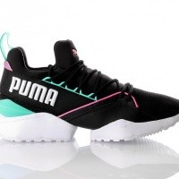 Afbeelding van Puma Muse Maia Chase Wn s 367355 Sneakers puma black-knockout pink-biscay green