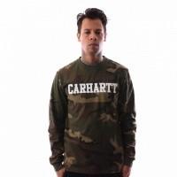Afbeelding van Carhartt WIP L/S College T-Shirt I024805 Longsleeve Camo Laurel / White