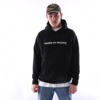 Afbeelding van raised by wolves cargo hooded sweatshirt Black French Terry