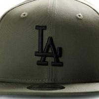 Afbeelding van New Era League Essential 9Fifty 11871487 Snapback Cap New Olive/Black Mlb Los Angeles Dodgers