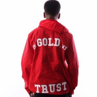 Afbeelding van In Gold We Trust Logo Pullover FAJ-028 Jas Red